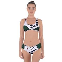 Poker Hands   Royal Flush Clubs Criss Cross Bikini Set