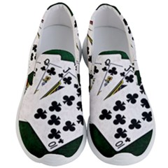 Poker Hands   Royal Flush Clubs Men s Lightweight Slip Ons