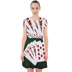 Poker Hands   Royal Flush Diamonds Adorable In Chiffon Dress