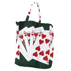 Poker Hands   Royal Flush Hearts Giant Grocery Tote