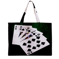Poker Hands   Royal Flush Spades Zipper Mini Tote Bag by FunnyCow
