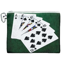 Poker Hands   Royal Flush Spades Canvas Cosmetic Bag (xxl) by FunnyCow