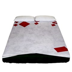 Poker Hands   Straight Flush Diamonds Fitted Sheet (king Size) by FunnyCow