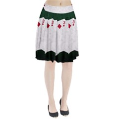 Poker Hands   Straight Flush Diamonds Pleated Skirt