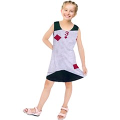 Poker Hands   Straight Flush Diamonds Kids  Tunic Dress
