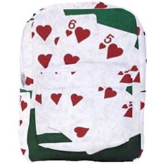Poker Hands Straight Flush Hearts Full Print Backpack