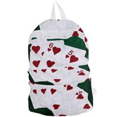Poker Hands Straight Flush Hearts Foldable Lightweight Backpack