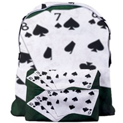 Poker Hands Straight Flush Spades Giant Full Print Backpack by FunnyCow