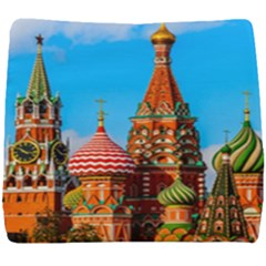 Moscow Kremlin And St  Basil Cathedral Seat Cushion