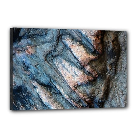 Earth Art Natural Rock Grey Stone Texture Canvas 18  X 12