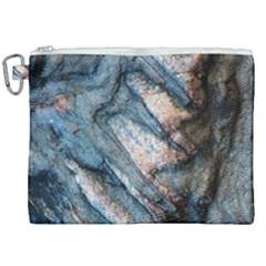 Earth Art Natural Rock Grey Stone Texture Canvas Cosmetic Bag (xxl) by CrypticFragmentsDesign