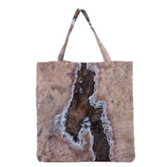 Earth Art Natural Texture Salt Of The Earth Grocery Tote Bag by CrypticFragmentsDesign