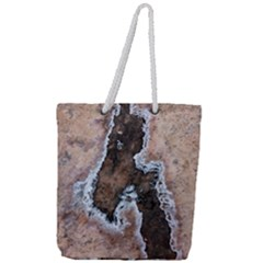 Earth Art Natural Texture Salt Of The Earth Full Print Rope Handle Tote (large)