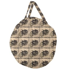 Indian Motorcycle Giant Round Zipper Tote