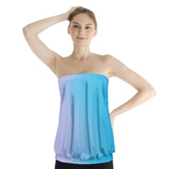 Background Graphics Lines Wave Strapless Top