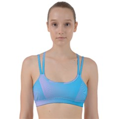 Background Graphics Lines Wave Line Them Up Sports Bra