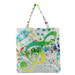 Points Circle Music Pattern Grocery Tote Bag