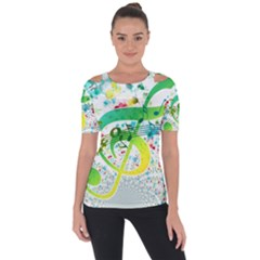 Points Circle Music Pattern Short Sleeve Top