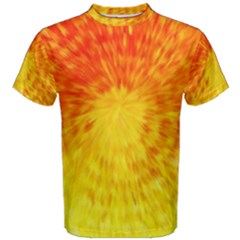 Abstract Explosion Blow Up Circle Men s Cotton Tee