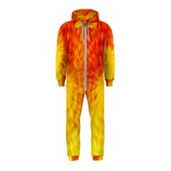 Abstract Explosion Blow Up Circle Hooded Jumpsuit (kids)