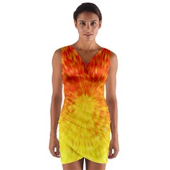 Abstract Explosion Blow Up Circle Wrap Front Bodycon Dress by Nexatart