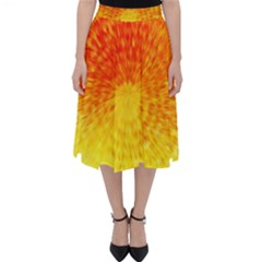 Abstract Explosion Blow Up Circle Folding Skater Skirt