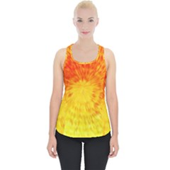 Abstract Explosion Blow Up Circle Piece Up Tank Top