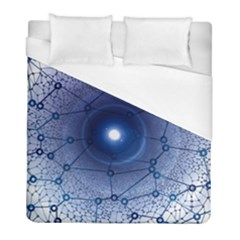 Network Social Abstract Duvet Cover (full/ Double Size)