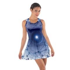 Network Social Abstract Cotton Racerback Dress