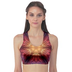Fractal Abstract Artistic Sports Bra