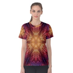 Fractal Abstract Artistic Women s Cotton Tee