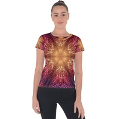 Fractal Abstract Artistic Short Sleeve Sports Top