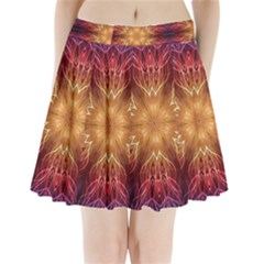 Fractal Abstract Artistic Pleated Mini Skirt