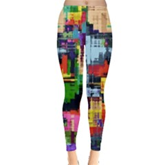 Color Abstract Background Textures Leggings
