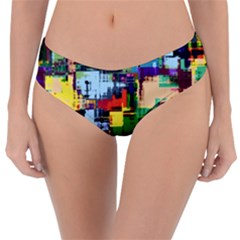 Color Abstract Background Textures Reversible Classic Bikini Bottoms