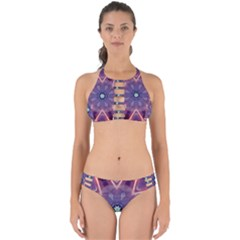 Abstract Glow Kaleidoscopic Light Perfectly Cut Out Bikini Set