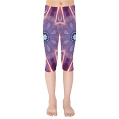 Abstract Glow Kaleidoscopic Light Kids  Capri Leggings