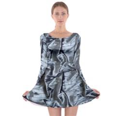 Pattern Abstract Desktop Fabric Long Sleeve Skater Dress
