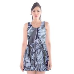 Pattern Abstract Desktop Fabric Scoop Neck Skater Dress