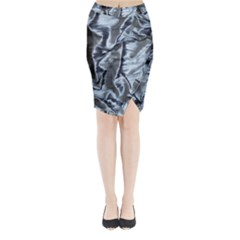 Pattern Abstract Desktop Fabric Midi Wrap Pencil Skirt