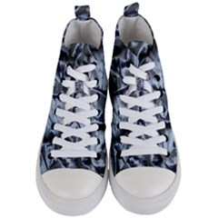 Pattern Abstract Desktop Fabric Women s Mid Top Canvas Sneakers