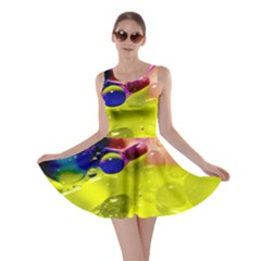 Abstract Bubbles Oil Skater Dress