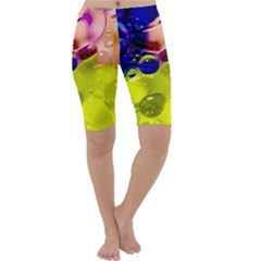 Abstract Bubbles Oil Cropped Leggings