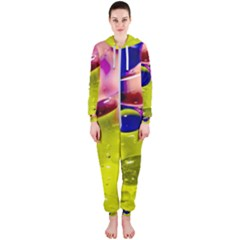 Abstract Bubbles Oil Hooded Jumpsuit (ladies)