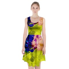 Abstract Bubbles Oil Racerback Midi Dress