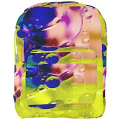 Abstract Bubbles Oil Full Print Backpack
