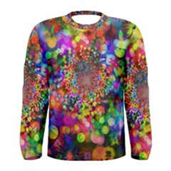 Background Color Pattern Structure Men s Long Sleeve Tee