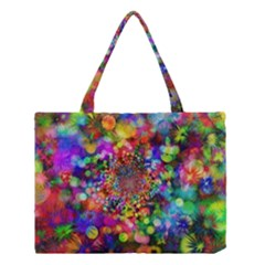 Background Color Pattern Structure Medium Tote Bag