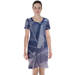 Abstract Background Abstract Minimal Short Sleeve Nightdress