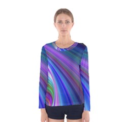 Background Abstract Curves Women s Long Sleeve Tee